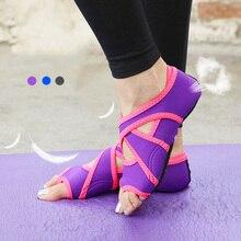 51d8bafc5 Novas Mulheres Meias Yoga Estiramento Sapatos de Fitness Esporte Formadores  Sapatos para Mulher Sapatilhas de Tecido