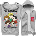 Fleece Animation Top!One Direction Fans print Hoodie jacket Winter Coat Unisex in stock free shipping NEW