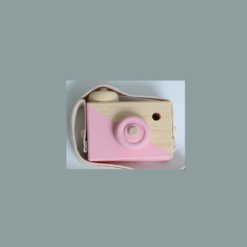 Скандинавский Европейский стиль камера Игрушки для маленьких детей декор комнаты предметы мебели ребенок Рождество День рождения деревянные подарки - Цвет: pink