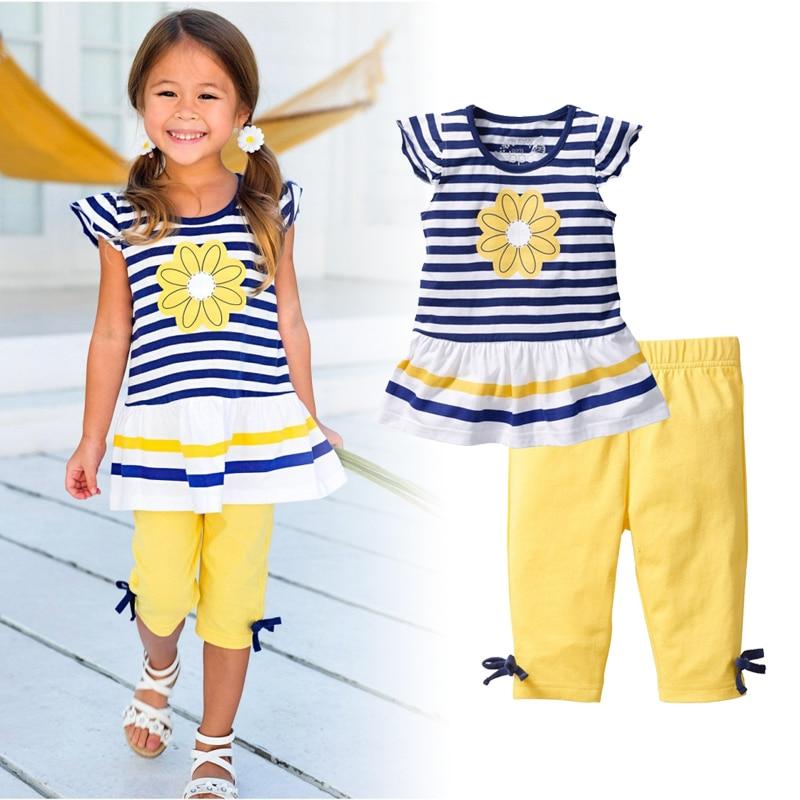 تخفيض السعر! 2019 الصيف الفتيات الملابس - ملابس الأطفال