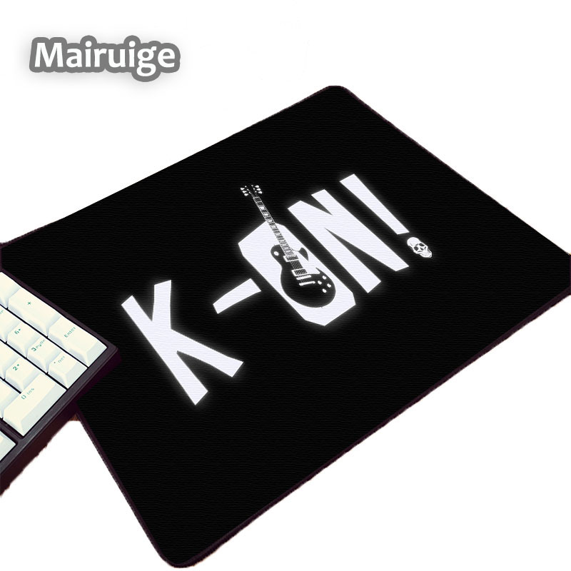 Mairuige Blackground Anime K-ON! Logo Pattern Schoolgirls Cute Anime Girls Mouse Pads 250x200x2MM Size Pc Table Mousepad Mat