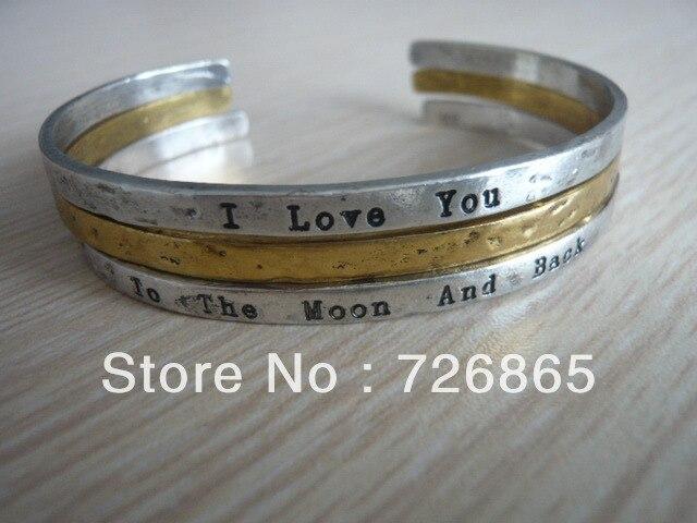 3pcs/Set,10Set/Lot Wholsesale Fashion I LOVE YOU To The Moon And Back Bangle
