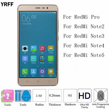 10PCS For Redmi Note 4/3/2/5 Protector Film 2.5D 9H Tempered Glass Screen Protective Film For XiaoMi Redmi pro free shipping