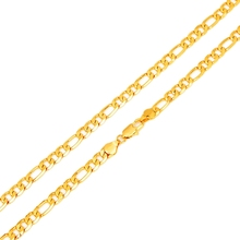 """Hot Sale Men's 18K Yellow Gold Plated Italy Figaro Chain Necklace 24"""" 60CM"""