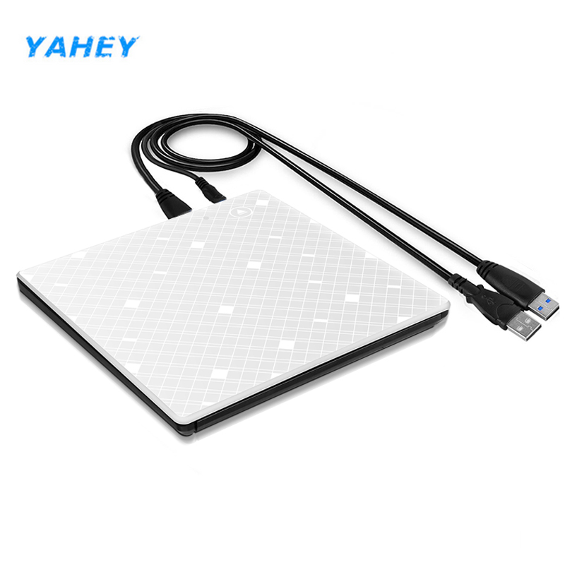 Yahey Touch Control USB 3.0 Ultra Slim Portable CD-ROM Optical Drive External DVD+/-RW Burner Writer Player for Computer Macbook thinkpad slim portable usb 2 0 dvd rw external optical drive