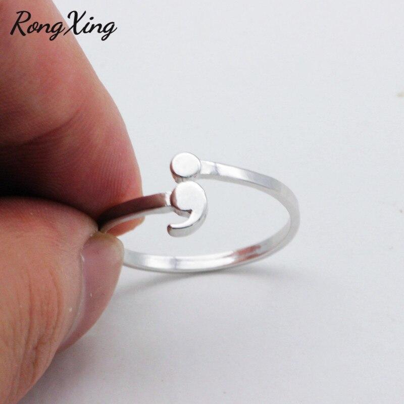 Оригинальный Полукруглый дизайн RongXing, открытые волнистые кольца для мужчин и женщин, серебристые вдохновляющие ювелирные украшения, выпус...