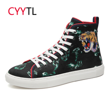CYYTL Mens Sneakers High-top 2019 Outdoor Shoes Tiger Head Horse Hair 5D Printing Walking Tenis Masculino Zapatillas Hombre
