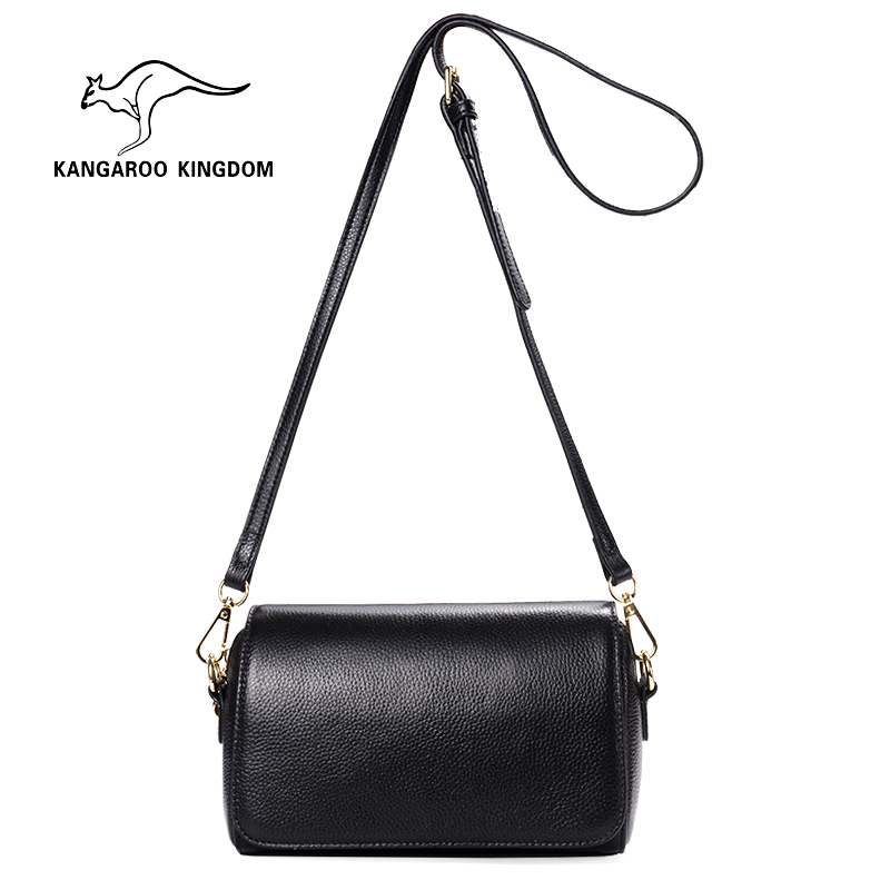 все цены на KANGAROO KINGDOM fashion women bag genuine leather mini women messenger bags small crossbody shoulder bags