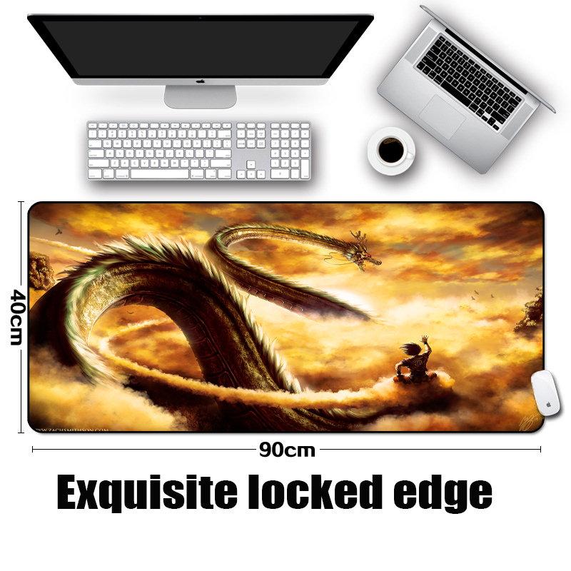 Mairuige The Large of Size Gaming Table Mousepad dragon Pattern Monster Mouse Mat Micepad Locked Edge 900x400MM Pc Game Mats