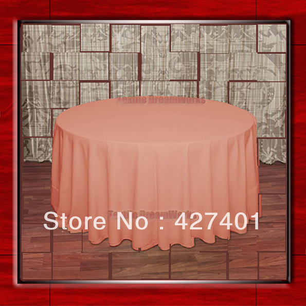 108R Coral 210GSM Polyester plain Table Cloth For Wedding Events & Party Decoration(Factory Direct Sales)
