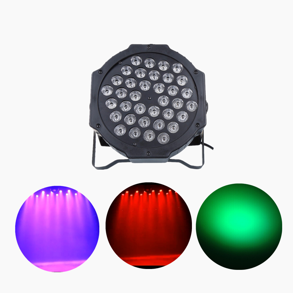 AUCD Mini 36 Pcs RGB Red Green Blue Leds LED Par Stage Lighting Disco DJ Club Effect Wedding Show DMX Strobe Light LE-Par36 mini rgb led party disco club dj light crystal magic ball effect stage lighting