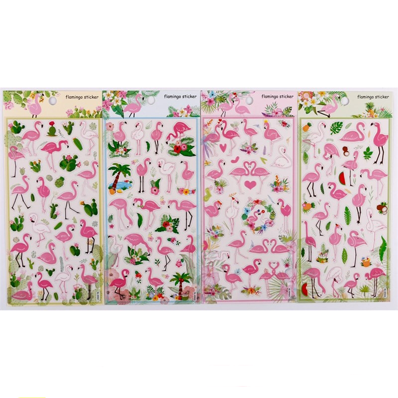 1 pcs/pack Stationery Stickers Flamingo PVC Diary Planner Decorative Mobile Stickers Scrapbooking DIY Craft Stickers1 pcs/pack Stationery Stickers Flamingo PVC Diary Planner Decorative Mobile Stickers Scrapbooking DIY Craft Stickers