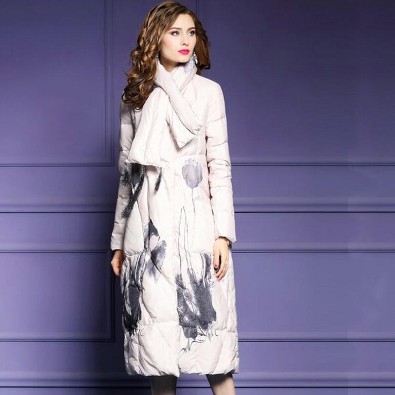 Outwear Épais Nouvelle Chaud Beige D'hiver Veste Manteau Down Femme Long Canard Duvet gris Lâche Parka Femmes Femelle De Blanc 2018 noir qUxYtXtT
