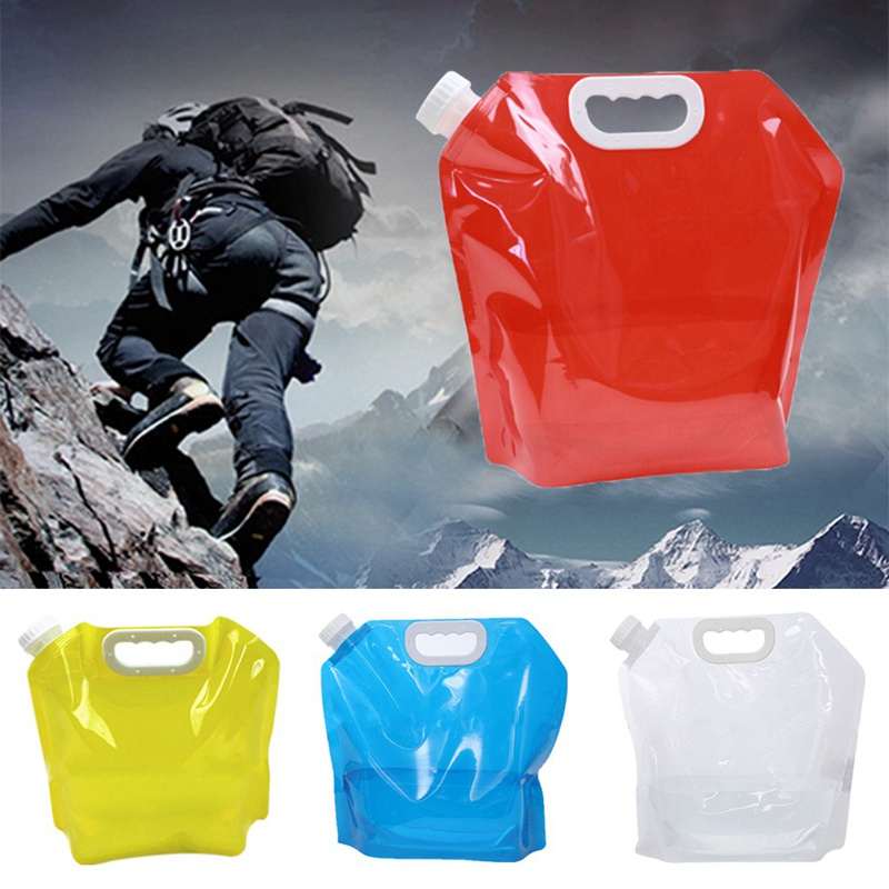 5L PE Water Bag For Portable Folding Water Storage Lifting Bag For Camping Hiking Survival Hydration Storage Bladder 30*32.5cm