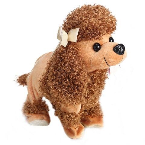 criancas brinquedos eletronicos filhote de cachorro interativo engracado robo cachorro pelucia falando inteligente russo brinquedos