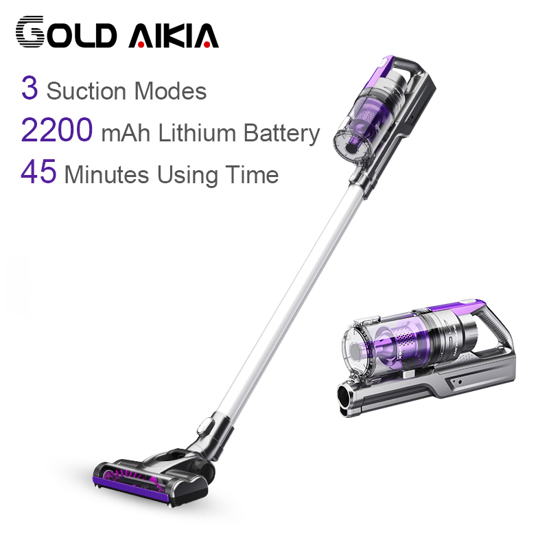 Gold Aikia Cyclone Vacuum Cleaner for Car Low Noise home use Efficient...