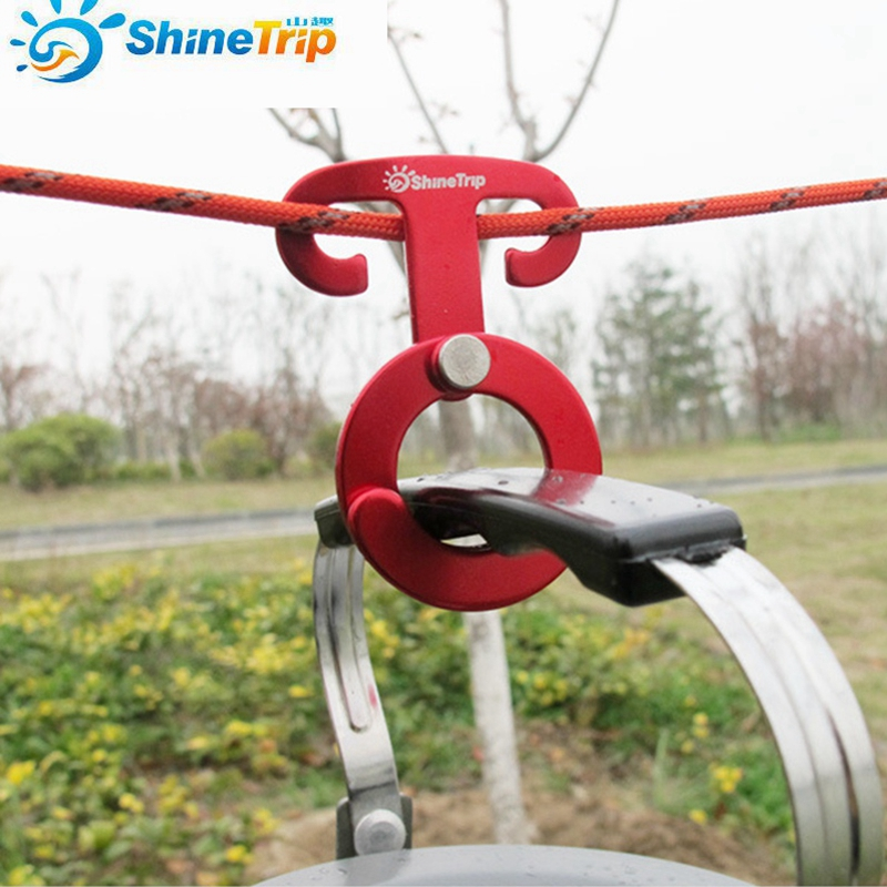 1PC Outdoor Camping Aluminum Rope Hanger O Type Paracord Rope Buckle Travel Kit Survival Buckle Circular Automatic Buckle