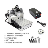Mini CNC Router CNC2520 CNC 2520 Engraving Drilling and Milling Machine 200W DC Spindle Motor