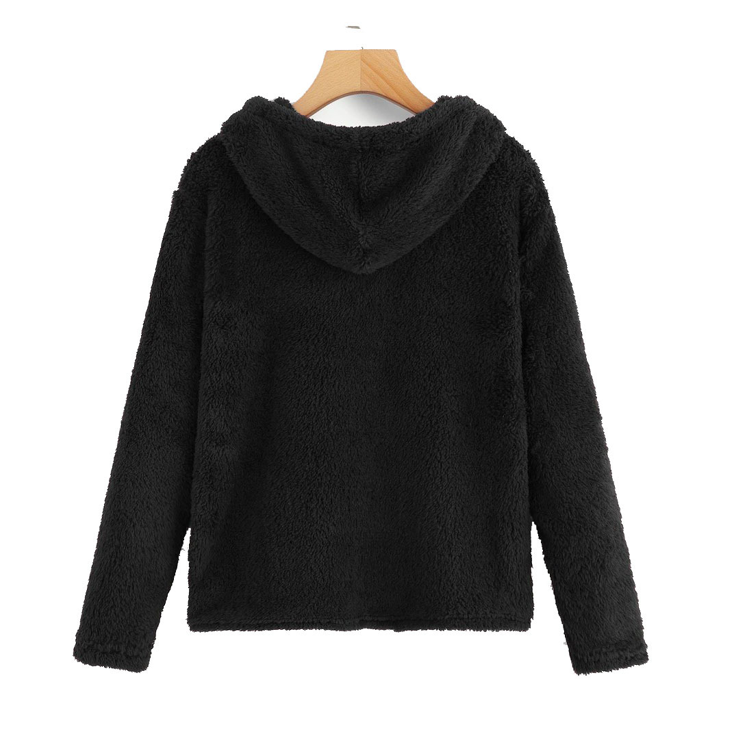 winter xxl new fleece hooded hoodies new style long sleeve pullover solid white female sweatshirt in Hoodies amp Sweatshirts from Women 39 s Clothing