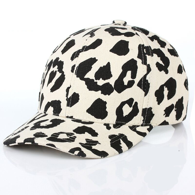 2017 New Fashion Leopard Print   Baseball     Cap   For Women Men Brand Cowboy Hats Sun Beach Snapbacks Bone Chapeu Female