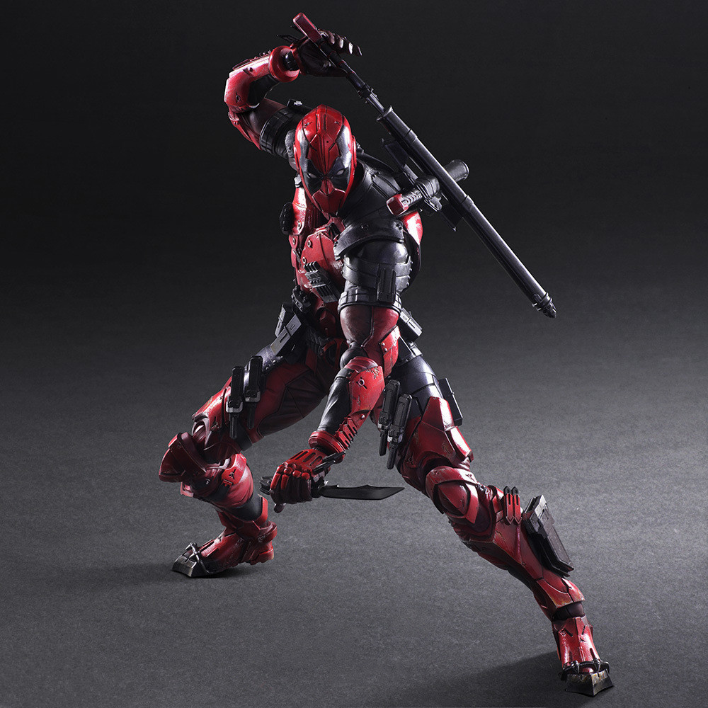 Marvel Super Hero Figure Play Arts KAI Deadpool 1 6 Scale Pre painted PVC Action Figure