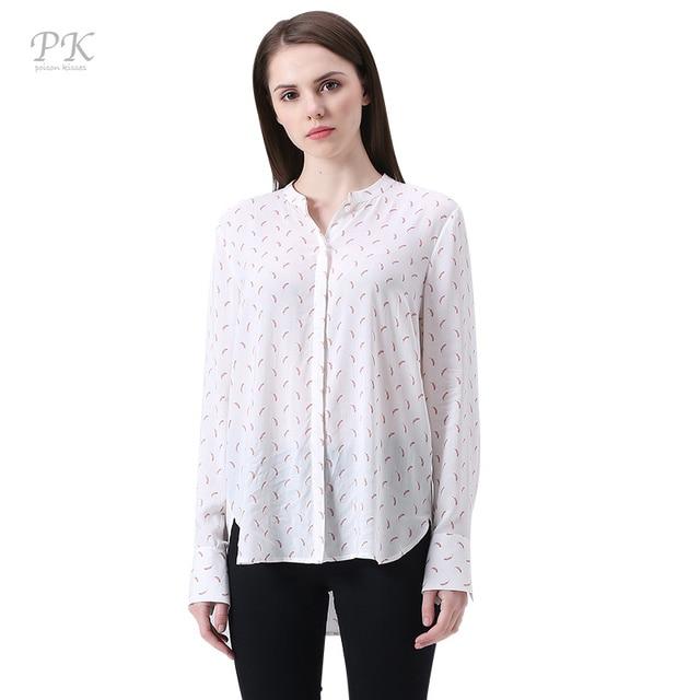 ddb561ba01f63 PK puff sleeve print women blouses 2018 all over print blouse casual feminina  blusa imported-china vintage viscose summer blouse