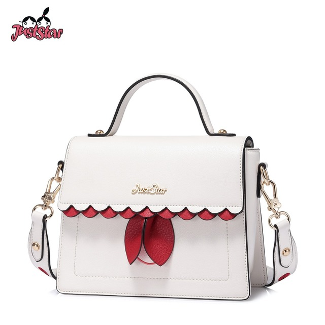 Just Star Women S Leather Handbags Las Fashion Insect Panelled Shoulder Purse Female Ruffles Flap Leisure Messenger