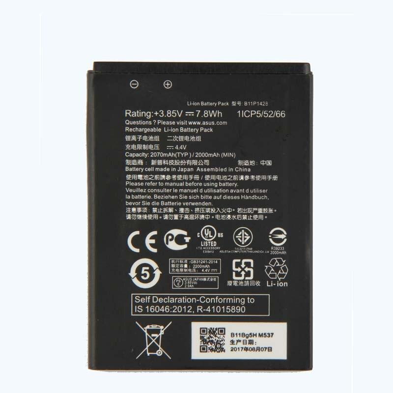 Orginal B11P1428 Battery For ASUS ZenFone ZB450KL ZE500KG 5 quot X009DB ZB452KG ZenFone Go 4 5 2000mAh 2018 new in Mobile Phone Batteries from Cellphones amp Telecommunications