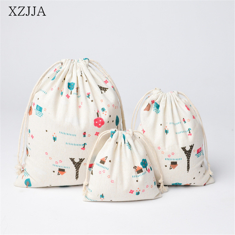 XZJJA Fresh Drawstring Storage Bag Travel Portable Clothing Shoe Underwear Beam Pouch Sundries Organizer Girl Gift Bag