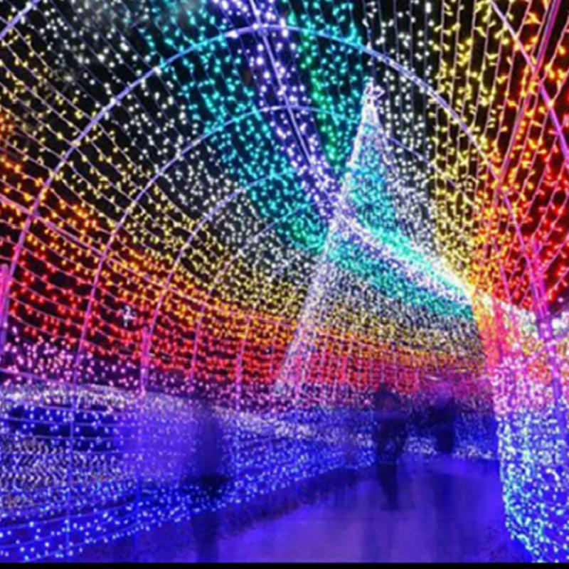 ФОТО 3 x 6M Waterfall LED Light Water Flow String Lights Wedding Party Festival Decor