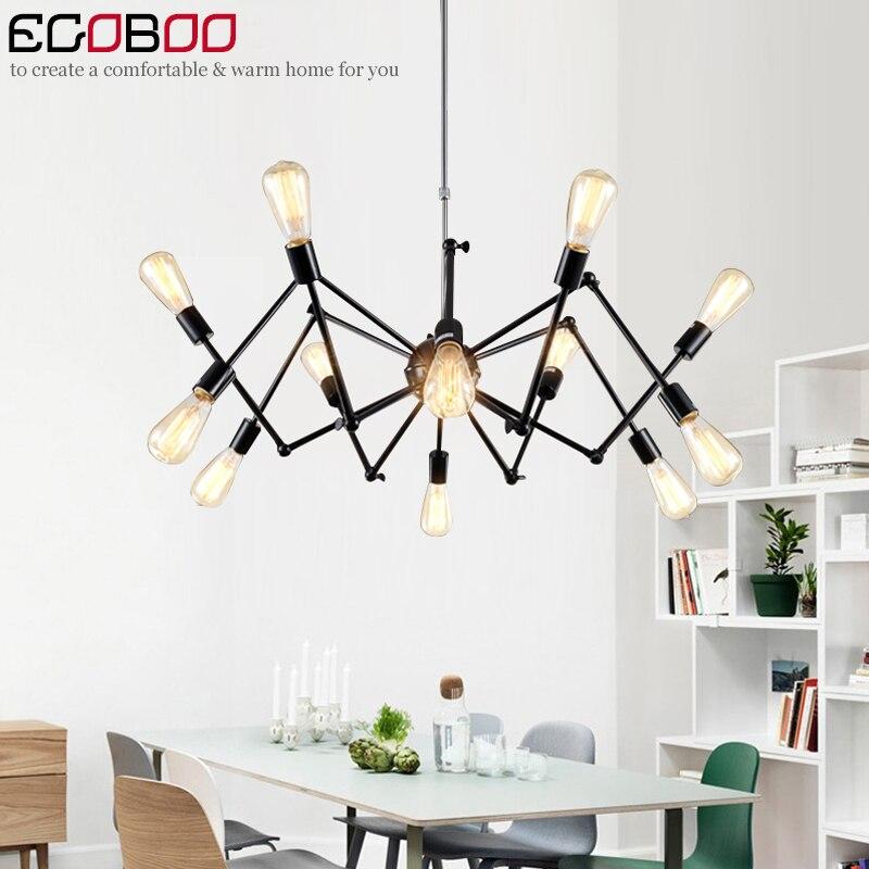 цена  American Retro Spider Chandelier Loft Industrial Wind Creativity Nordic Iron Living Room Restaurant Bedroom Lights  онлайн в 2017 году