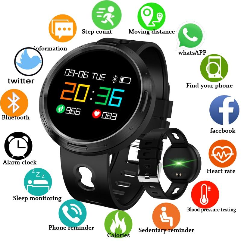 Спорт Смарт часы BANGWEI Для женщин Для мужчин Водонепроницаемый светодио дный Цвет Экран сердечного ритма крови Давление Шагомер Bluetooth Smart Бра...