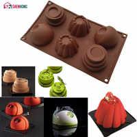 SHENHONG trois en un 3D Moule antiadhésif Silicone gâteau Moule Art Mousse Moule silikon5% chocolats Muffin Brownie cuisson pâtisserie