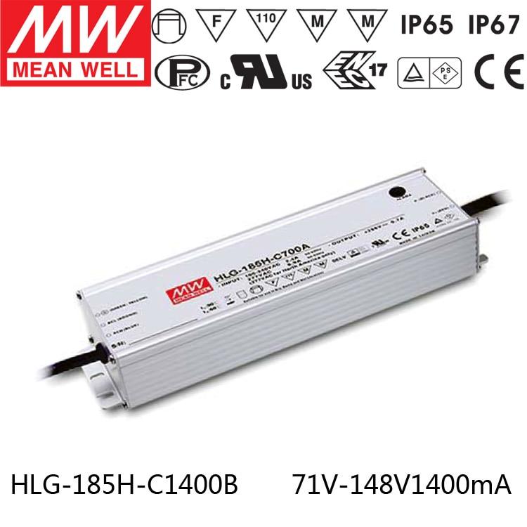 Meanwell HLG-185H-C1400B 200 W LED à sortie unique Alimentation 1400mA pour 4 pièces CREE CXB3590 LED