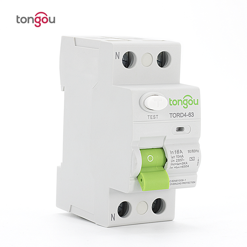 AC 2P 16A 10mA Electronic type RCCB RCD 110V 230V Residual Current Circuit Breaker TORD4-63 400 amp 3 pole cm1 type moulded case type circuit breaker mccb
