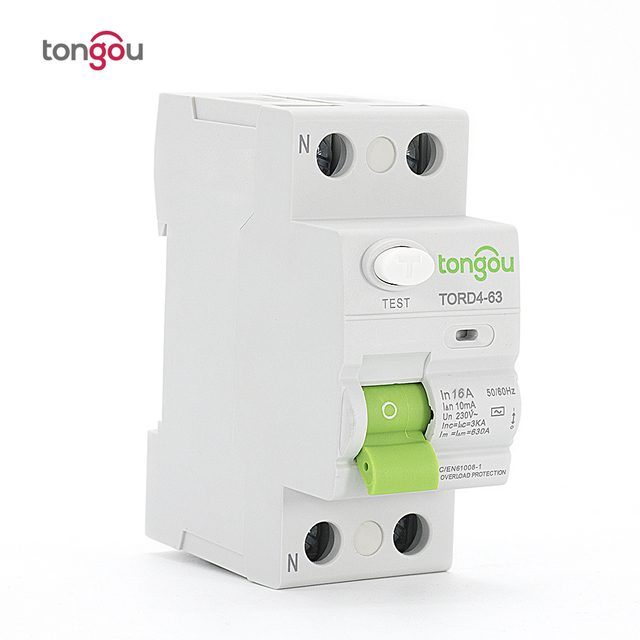 Superior AC 2P 16A 10mA Electronic Type RCCB RCD 110V 230V Residual Current Circuit  Breaker TORD4