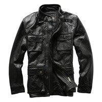 Армия пальто oдежда из натуральной кожи M65 верхняя одежда корова мужская кожаная куртка натуральной кожи куртка наездника