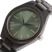 Hand made Wooden Chain Band Watch for Men Women Atrovirens Black Green Face Dress Quartz Wristwatch Clock Relogio Heren Hodinky