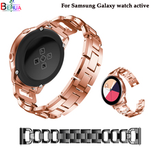 Men/women stainless steel watchband For samsung Galaxy watch active strap Samsung Gear S2/samsung 42mm wristband 20mm