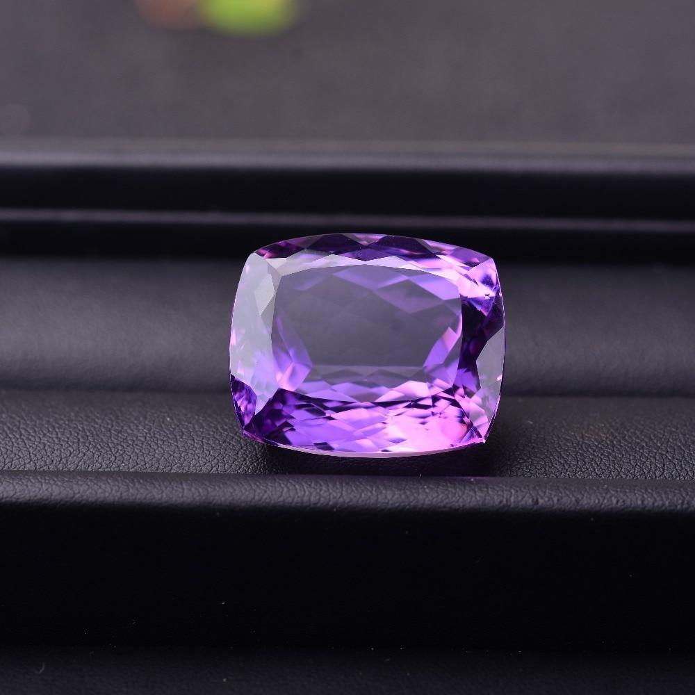 63.26CT Amethyst 25.8 x 21.8 x 15 mm Rectangular brilliant Gemstone ...