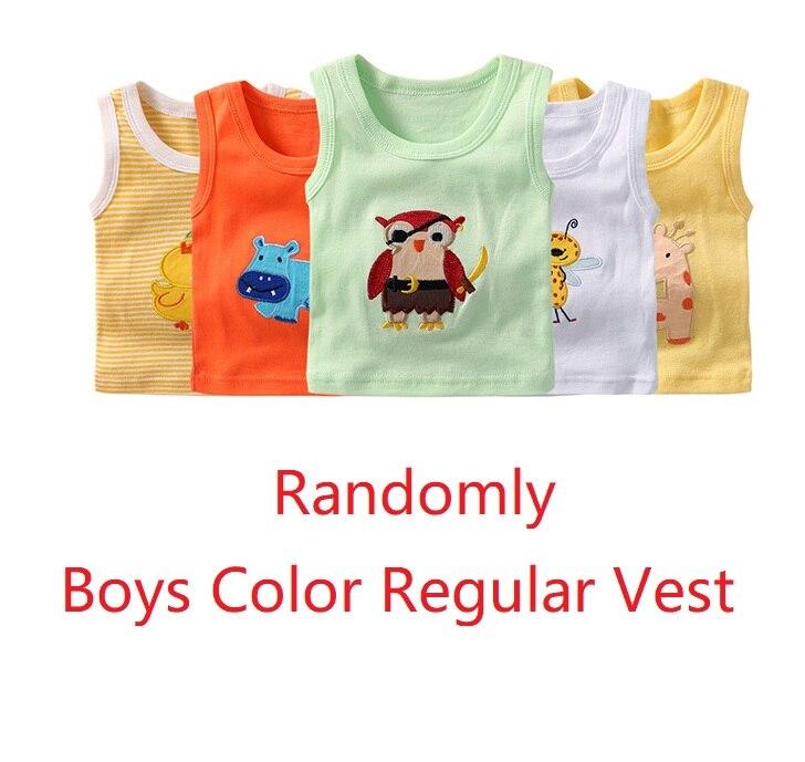 2019 Summer Baby Boy Tops Sleeveless Girls Vest Tanks Camisoles Newborn Undershirts Children T-Shirt Cotton Tee Shirts 0-3Y 9