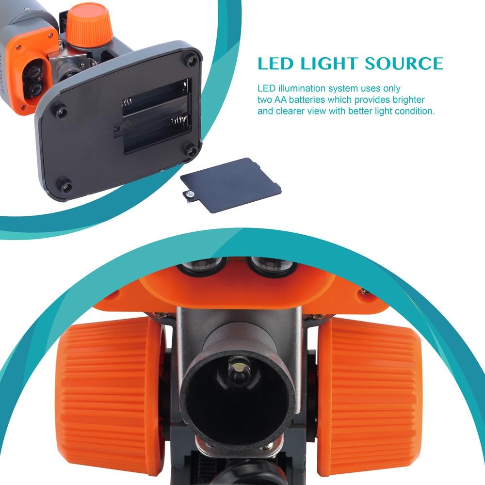 AOMEKIE 40X Verrekijker Stereo Microscoop Top LED PCB Soldeersel - Meetinstrumenten - Foto 5