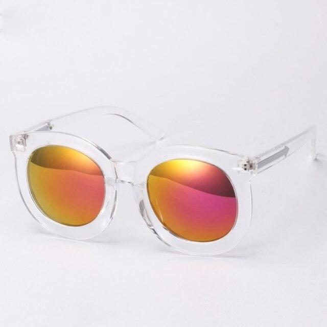 2017 Women Men Eyeglasses Vintage Clear Frame Sunglasses Mirrored ...