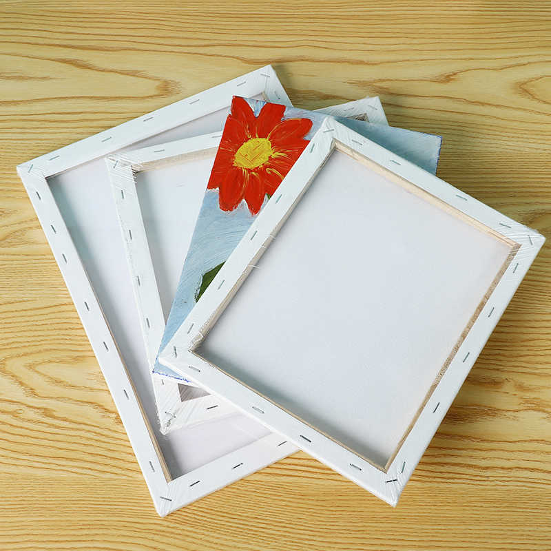 For Acrylic Oil Painting Watercolor Diy Crafts White Blank Screen Wooden Plate Frame Canvas Board