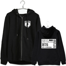Kpop bts bangtan boys concert wake up suga same hoodie jacket for men women zipper outwear plus size black chaquetas
