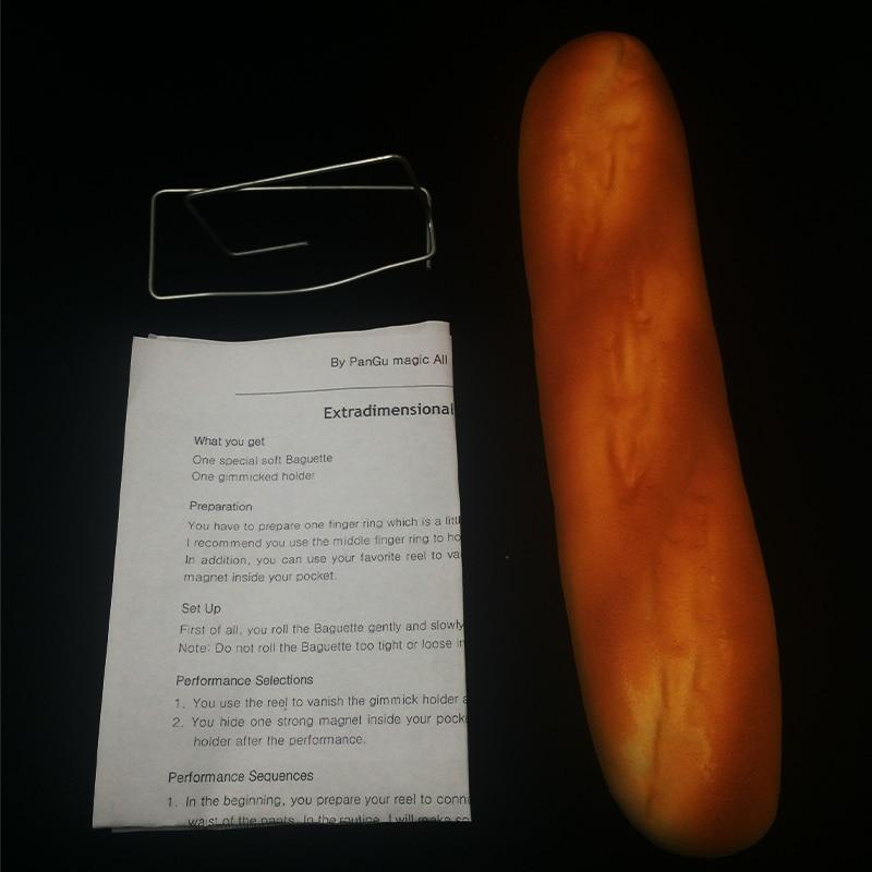 1Pcs Extra Dimensional Space Baguette Have Instruction Magic Tricks Professional Magician Empty Hand Out Of Baguette Bread