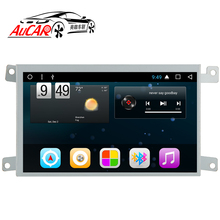 AuCAR Android 6.0 Car multimedia per Audi A6 A6L LHD RHD Auto Lettore DVD 2005-Quad core Bluetooth GPS radio WIFI 4G Stereo IPS