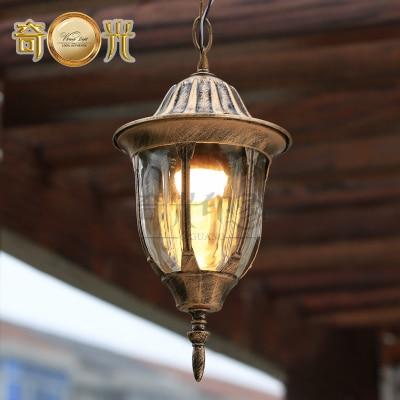 Europe Outdoor Aisle Pendant Light Waterproof Garden Hanging Lamp