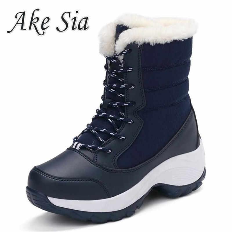 Kadın Botları Kış Ayakkabı Kadın Kar Botları Kadın Artı Boyutu Sıcak Platform Çizmeler Kış Kadın sıcak Botas Mujer 2019 Beyaz patik