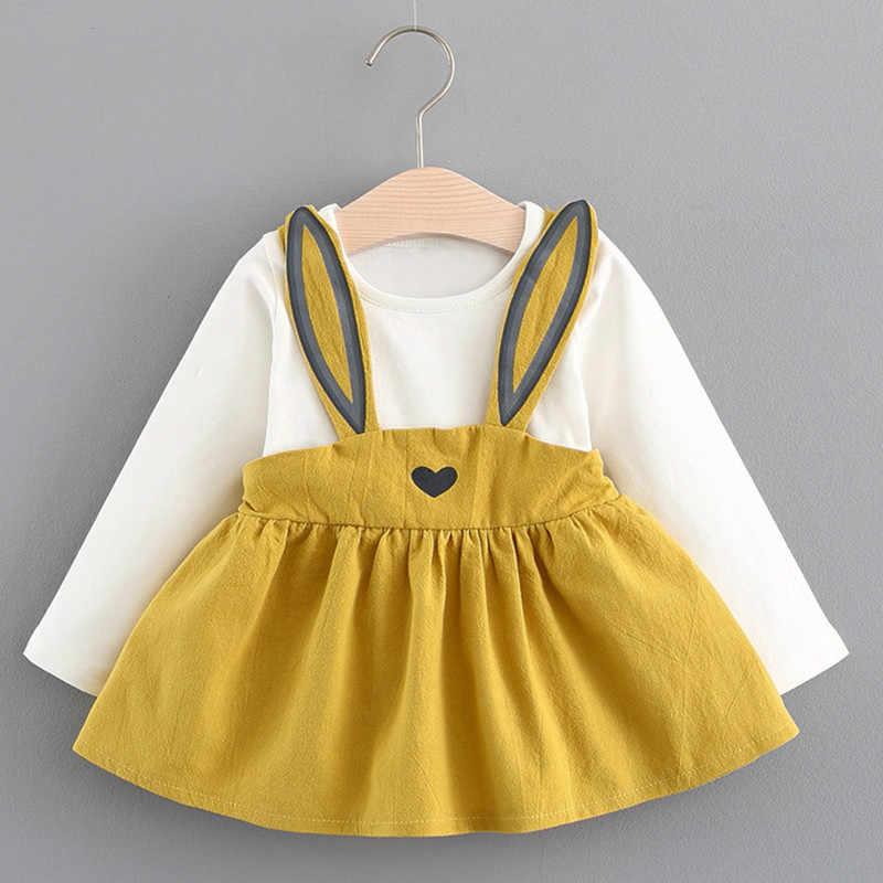 Baby Girl Dress 2019 Autumn Winter Long Sleeve Cute Cartoon Princess Dresses for Baby Girls Children Party Dress 6M-24M Kids